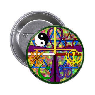 Symboles de chant religieux d'unité macaron rond 5 cm