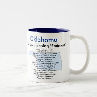 Symboles et carte de l'Oklahoma Mug