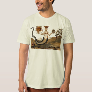 Symbolic Alchemy Tee Shirt with Sun and Moon