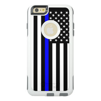 Symbolic American Flag Thin Blue Line on OtterBox iPhone 6/6s Plus Case