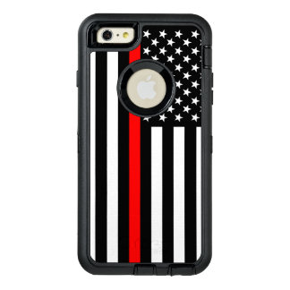 Symbolic American Flag Thin Red Line on OtterBox Defender iPhone Case