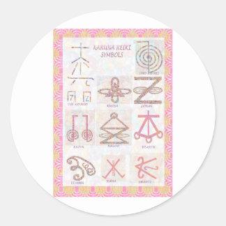 Symbolic ART : Reiki Masters Practice Tools Classic Round Sticker