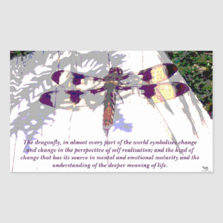 Symbolic Dragonfly Sticker