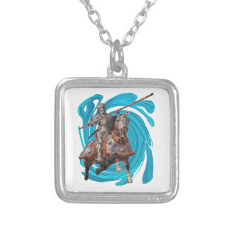 SYMBOLIC OF BRAVERY SILVER PLATED NECKLACE