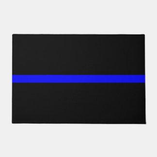 Symbolic Thin Blue Line graphic design on Doormat