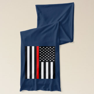 Symbolic Thin Red Line American Flag graphic on a Scarf