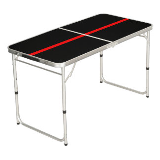 Symbolic Thin Red Line graphic design on Beer Pong Table
