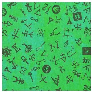 Symbolicon Clover Green Fabric