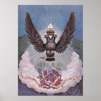 Symbolisme maçonnique affiche
