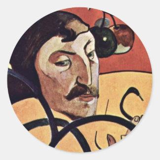 Symbolist Self-Portrait With Halo By Gauguin Paul Classic Round Sticker