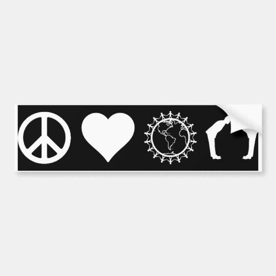 Symbology of PLUR (Dark) (Bumper Sticker) Bumper Sticker