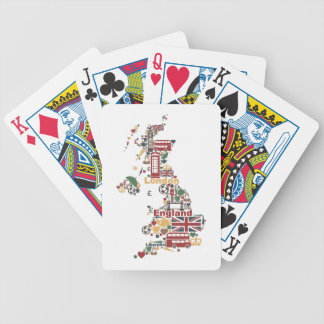 Symbols of England Map Bicycle Playing Cards