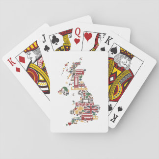 Symbols of England Map Playing Cards
