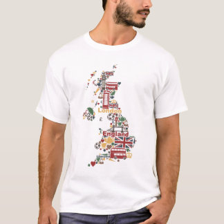 Symbols of England Map T-Shirt