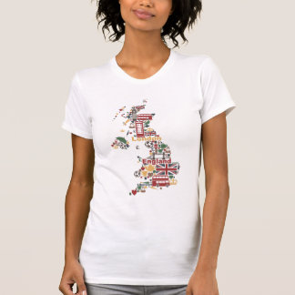 Symbols of England Map T-Shirt