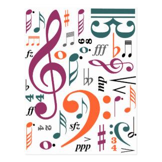 Symbols of Music Postcard