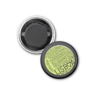 Symbols of Portugal - Lisbon Lisboa 1 Inch Round Magnet
