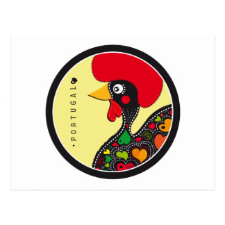 Symbols of Portugal - Rooster Postcard