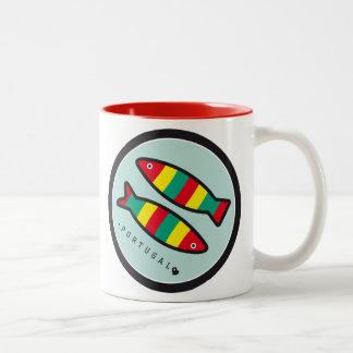Symbols of Portugal - Sardines Two-Tone Coffee Mug