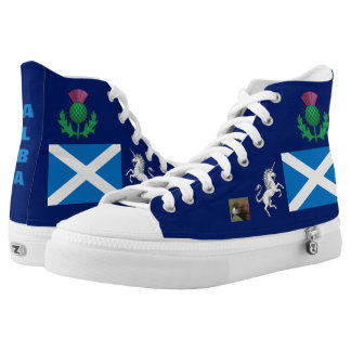 Symbols of Scotland  (Alba) Two-Sided High-Top