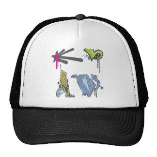 Symbols set design trucker hat