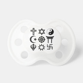 Symetric Religious Symbols Pacifier