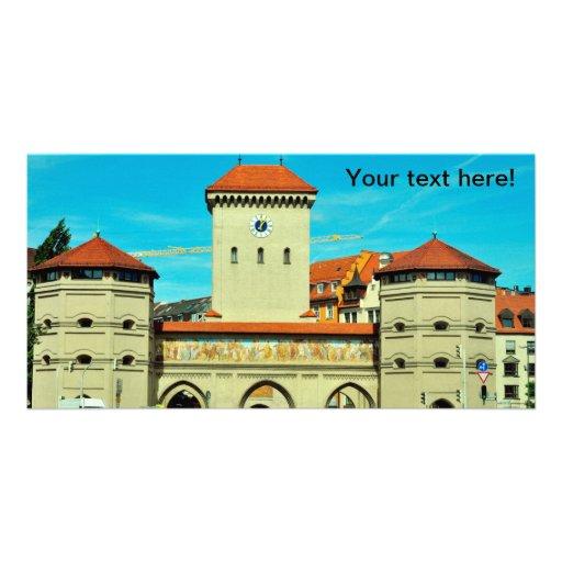 Symmetric building photo card template