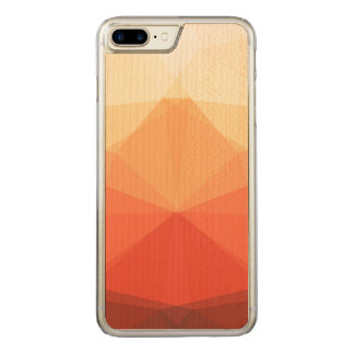 Symmetrical Autumn Triangles Carved iPhone 7 Plus Case