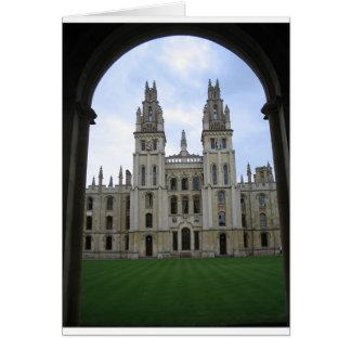 Symmetrical Building in England Card