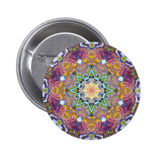 Symmetrical Colors Abstract 2 Inch Round Button