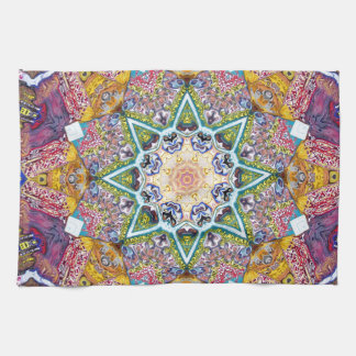 Symmetrical Colors Abstract Hand Towels