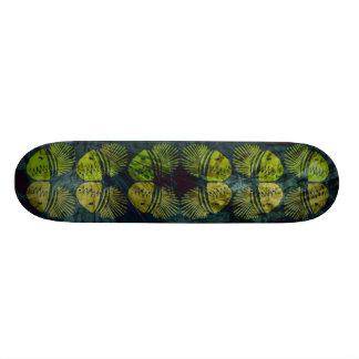 Symmetrical fish skate board deck
