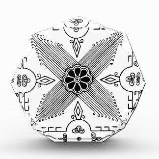 Symmetrical Indonesian Textile Flower Pattern