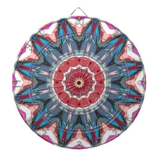 Symmetrical Mandala Graphic Dart Board