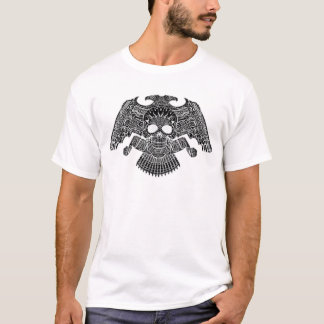 Symmetrical Skull with Guns and bullets by Al Rio T-Shirt