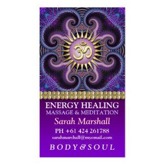Symmetry OM Yoga Meditation Business Card