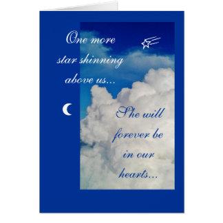 Sympathy: a star above us... card