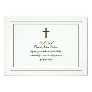 "Sympathy Acknowledgement 3.5"" X 5"" Invitation Card"