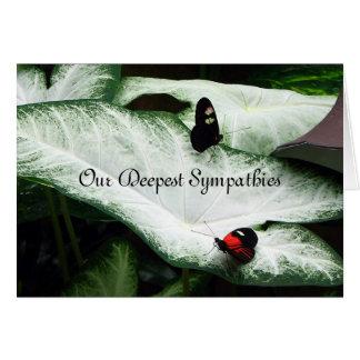 Sympathy - Black Butterfles - Caladium Card