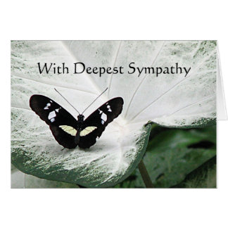 Sympathy - Black butterfly Card