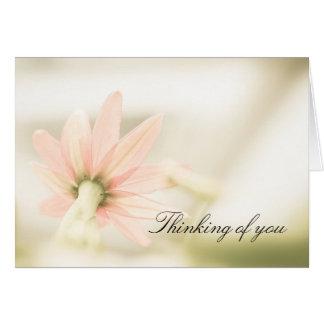 Sympathy card, a beautiful flower photograph. greeting card
