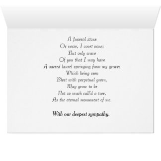 Sympathy Card featuring poem By Robert Herrick