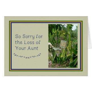 Sympathy Card for Aunt with Bench and Plants