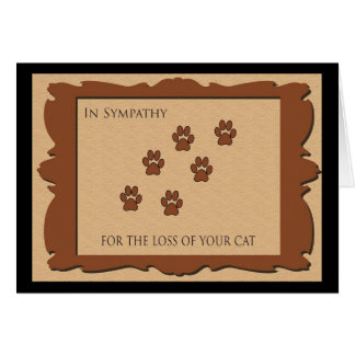 Sympathy Card for Loss of Cat