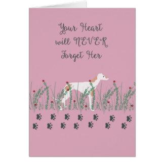 Sympathy Card for Loss of Female Greyhound