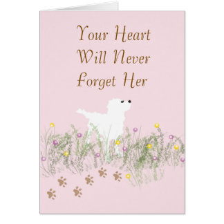 Sympathy Card for Pet Female Dog