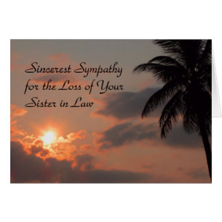 Sympathy Card for Sister in Law with Sunset