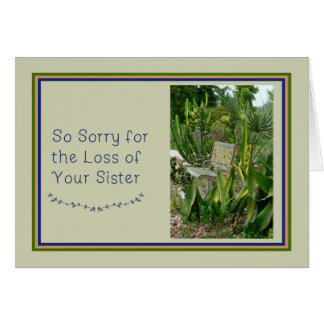 Sympathy Card for Sister with Bench and Plants
