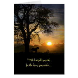 Sympathy Card Loss of Mother, Condolences for Mom