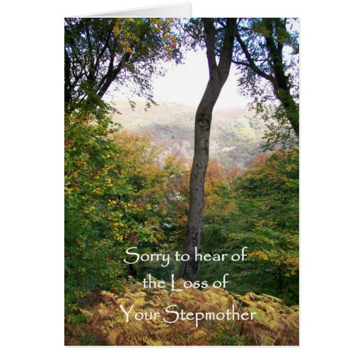 Sympathy Card, Loss of Stepmother